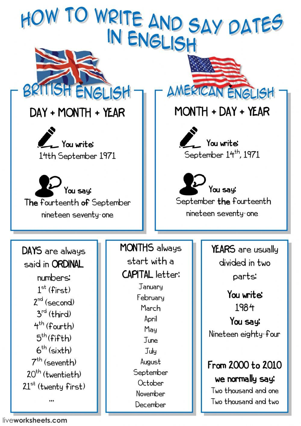 Exercises to practice numbers in english pdf