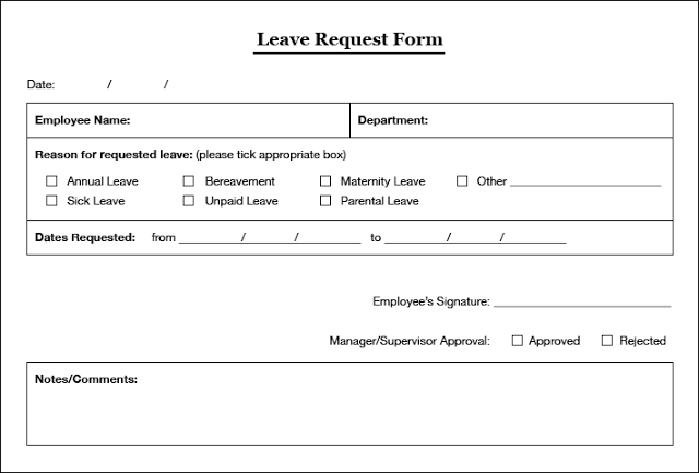 Leave application and absence report gc-178