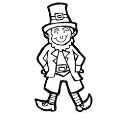 step by step instructions on how to draw a leprechaun